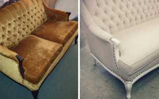 Как отреставрировать старый диван своими руками