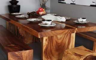Мебель из цельного дерева для дачного домика