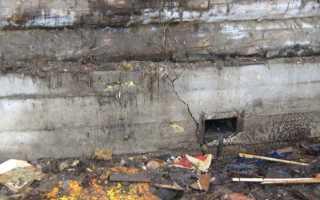 Ремонт фундамента деревянного дома – от устранения трещин, до полной замены
