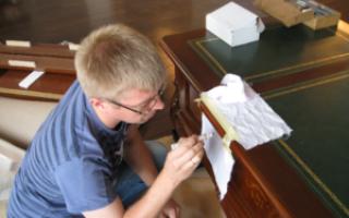 Реставрация шпонированной мебели своими руками