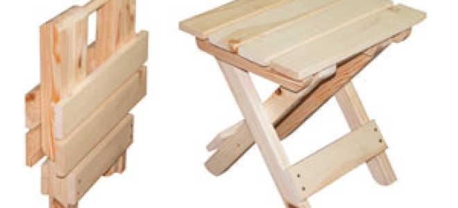 Как сделать складной стульчик своими руками