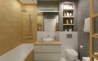 Дизайн ванной комнаты 6 кв. м