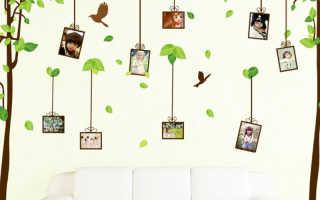Какие бывают и для чего используются декоративные наклейки на стены