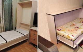 Как называется кровать которая убирается в стену