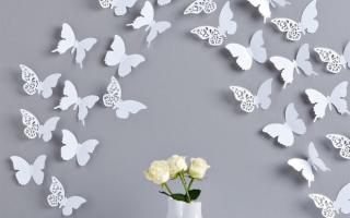 Как красиво наклеить бабочек на стену