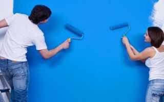 Как красить стены валиком без разводов