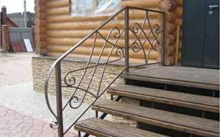 Перила из металла для крыльца: своими руками в частном доме, красивые железные (металлические, кованые)