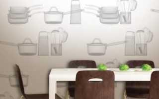 Применение виниловых обоев на кухне