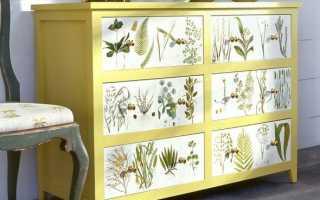 Декорирование мебели обоями
