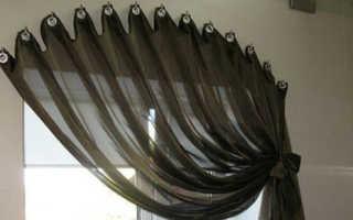 Как повесить шторы без карниза своими руками