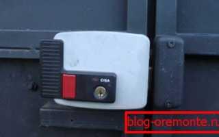 Электромеханический замок на калитку: комбинация механики с электрикой