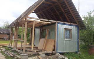 Как из бытовки сделать дачный домик