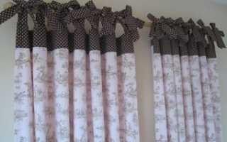 Как сделать петельки на шторы вручную