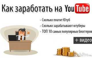 Как заработать деньги на YouTube — подробная инструкция для новичков. Заработок на ютубе за просмотры