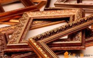 Как оформить зеркало в багет своими руками
