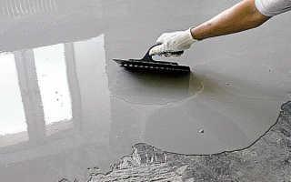 Наливной пол: расход на 1 квадратный метр